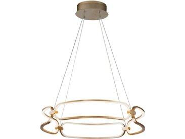 DesignLive LED-Pendelleuchte LEVISTO /Gold, Alu, Eisen, Stahl &