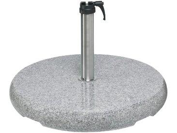 Glatz Sonnenschirmständer Granit rund 90 kg /Grau, Stein, Marmor,