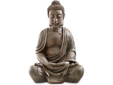 Deko-Buddha Polyresin, 70 cm /Grau, Kunststoff