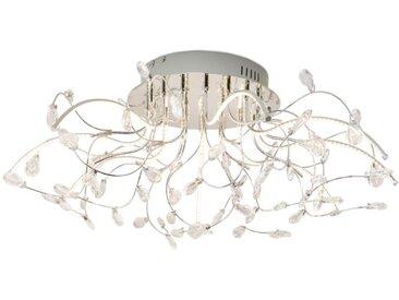 B-LEUCHTEN LED-Deckenleuchte Crystal /Chrom, 77 cm Alu, Eisen,