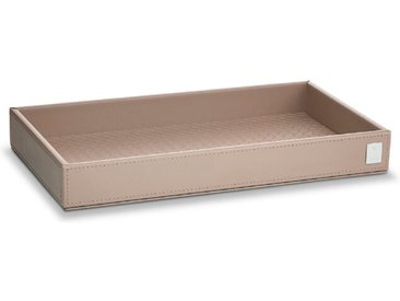 JOOP! Tablett Bathline 15x28 cm /Grau, Leder