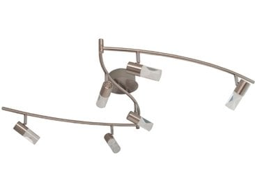 DesignLive LED-Schienensystem Raices /Nickel matt, Chrom, Alu,