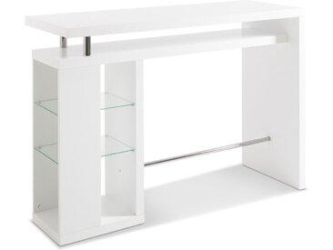 HMW Bartisch Space 157 x 55 cm /Weiß, Lack / Hochglanz