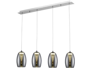 Brilliant LED-Pendelleuchte Metropolis, Metall