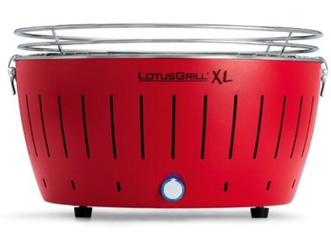 LotusGrill Holzkohlegrill Ø 40,5 cm XL /Rot, (Extra Large) Stahl