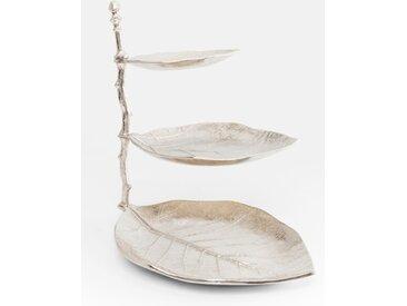 KARE DESIGN 3-stöckige Etagere Leaf /Silber, Aluminium