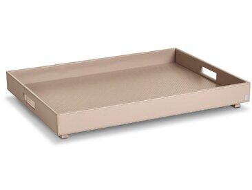 JOOP! Tablett Bathline 66x47 cm /Grau, Leder