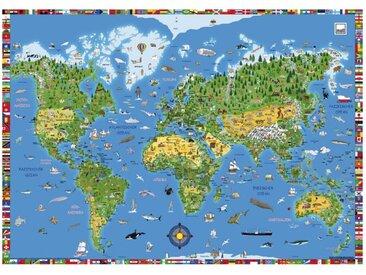 Moll Schreibunterlage Weltkarte /Grün, Kunststoff