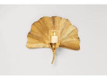 KARE Kerzenleuchter Ginkgo Leaf 61665 /Gold, Metall