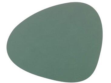 LINDDNA Tischset Curve L Nupo /Grün, Leder
