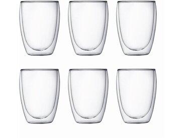 bodum Gläserset Pavina 350 ml 6tlg. /Klar, L (Large) Glas