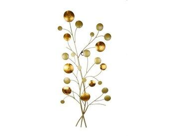 Wanddeko Kugeln /Gold, 31 cm Metall