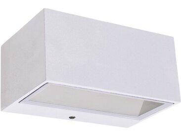 Eco-Light LED-Außenwandleuchte Gemini /Weiß, Alu, Eisen, Stahl &