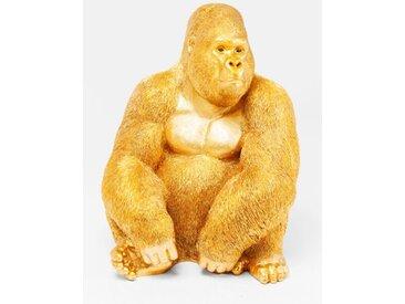 KARE DESIGN Deko Figur 61445 Monkey Gorilla /Gold, Polyresin