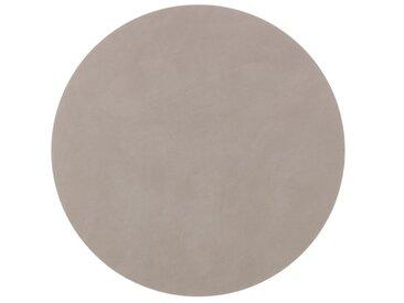 LINDDNA Tischset Circle XL Nupo /Grau, Leder