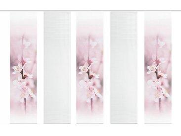 Schmidt Schiebewand Kisgole 5er-Set /Rosa, Polyester