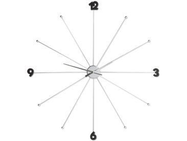 KARE Wanduhr Like Umbrella Ø100cm /Chrom, Metall