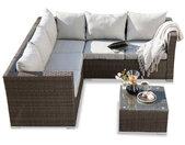 Loungemöbel Set Lenox 3tlg. Polygeflecht, Polyrattan