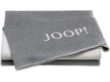 JOOP! Kuscheldecke Doubleface 150 x 200 cm /Graphit, Mischgewebe