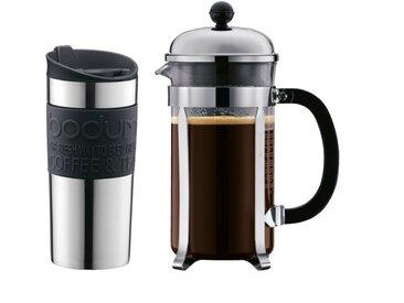 bodum Kaffeebereiter Chambord 1000 ml 2tlg. /Schwarz, Edelstahl