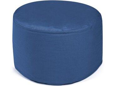 Outbag Sitzsack Hocker Rock Plus, blau /Blau, Stoff