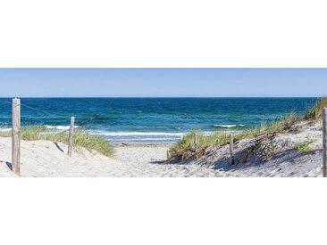 EUROART Glasbild 33 x 98 cm Enjoy the Beach VII /Blau, Glas