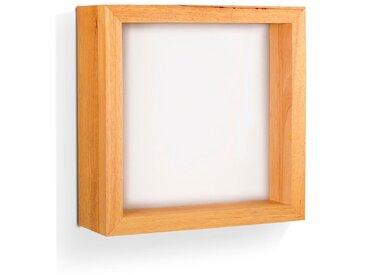 FABAS LED-Wandleuchte WINDOW /Braun, 37,5 x cm Holz