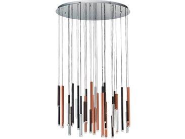 Brilliant LED-Pendelleuchte Cembalo, Alu, Eisen, Stahl & Metall