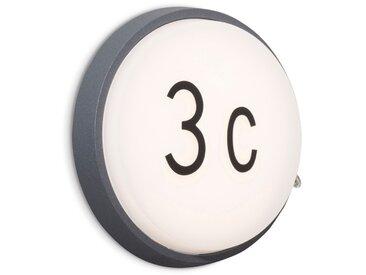 Brilliant LED-Außenwandleuchte Letan Round /Anthrazit, 17,5 cm