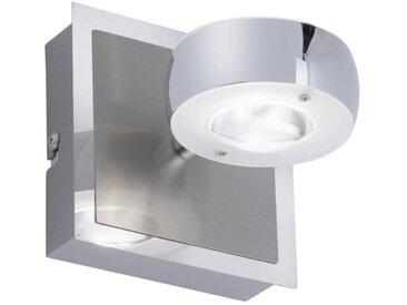LeuchtenDirekt LED-Wandleuchte Ls-Opti /Silber, Alu, Eisen, Stahl