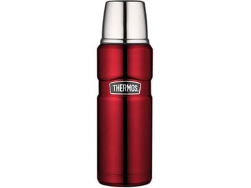 Thermos Thermoskanne Stainless King Steel /Rot, Edelstahl