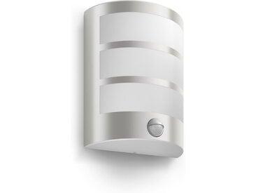 Philips LED-Außenwandleuchte Python, Edelstahl