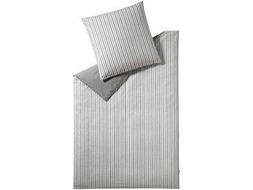 Esprit Bettwäsche Herringbone 155 x 220 cm /Grau, Renforce