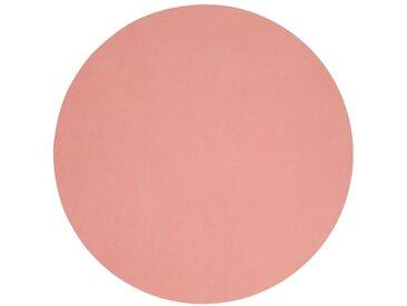 LINDDNA Tischset Circle XL Nupo /Rose, Leder