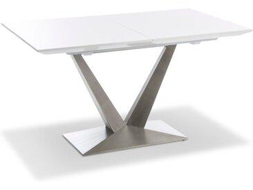 Esstisch mit Auszug Bardolino 140/190 x 85 cm /Weiß, Lack /