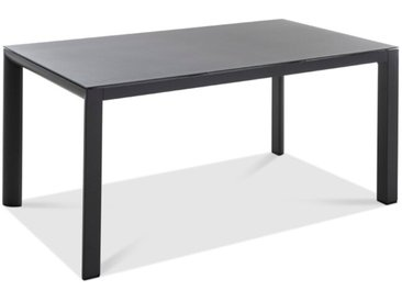 Gartentisch Deluxe Alu 160 x90 /Hellgrau, x 90 cm Aluminium