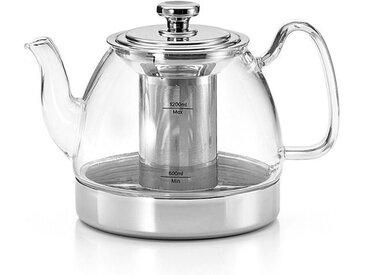 Teekanne Britt 1200 ml /Silber, Glas