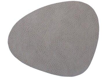 LINDDNA Tischset Curve L Hippo /Anthrazit / glänzend, Leder