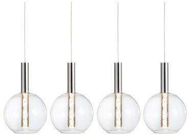 Brilliant LED-Pendelleuchte Elegant /Chrom, Chrom, Alu, Nickel,