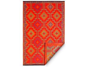 FabHab Outdoorteppich World 180 x 270 cm /Orange, Kunststoff