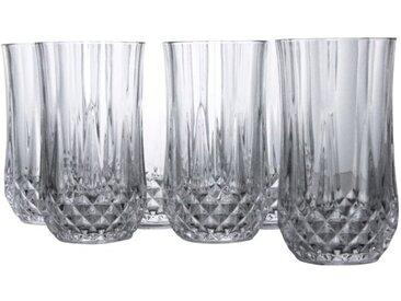 CreaTable Gläserset Longdrink Longchamp 6tlg. /Klar, M (Medium)