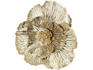 BOLTZE Wanddeko Ø 78 cm Fleur /Gold, Eisen