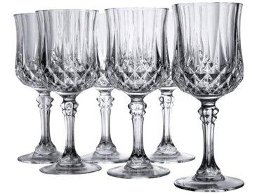 CreaTable Gläserset Rotwein - Longchamp 6tlg. /Klar, Kristall,