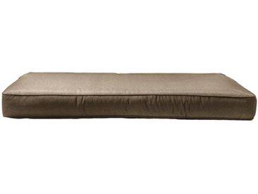 Madison Bank-Auflage Pallet Carre 120 x 80 cm /Taupe, Baumwolle