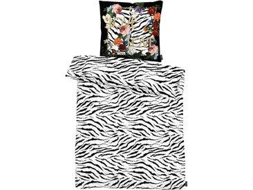 Apelt Bettwäsche Zebra 135 x 200 cm /Schwarz / Weiß, Satin