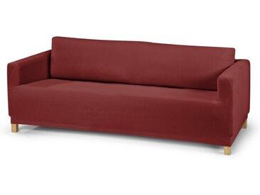 Sofahusse Jersey 3-Sitzer /Rot, Mischgewebe