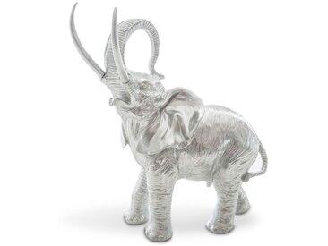 Deko-Objekt Elefant /Silber, Kunststoff