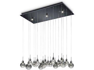 Reality Leuchten LED-Pendelleuchte, Alu, Eisen, Stahl & Metall