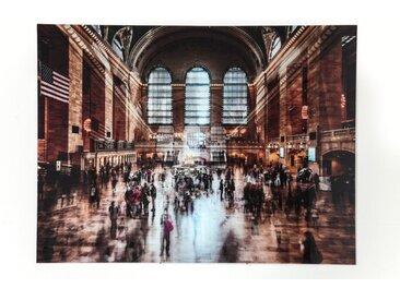 KARE Glasbild 160 x 120 cm Grand Central Station /Bunt, Glas