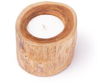 Outdoor-Kerze Robeiro, Teak, Ø 12 cm, Holz